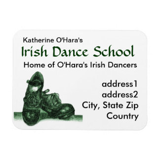 Irish Dance Business Card Premium Magnet