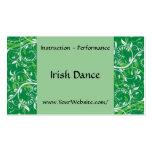 Irish Dance - business card template