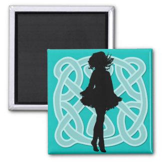 Irish Dance Celtic Light Blue Magnet