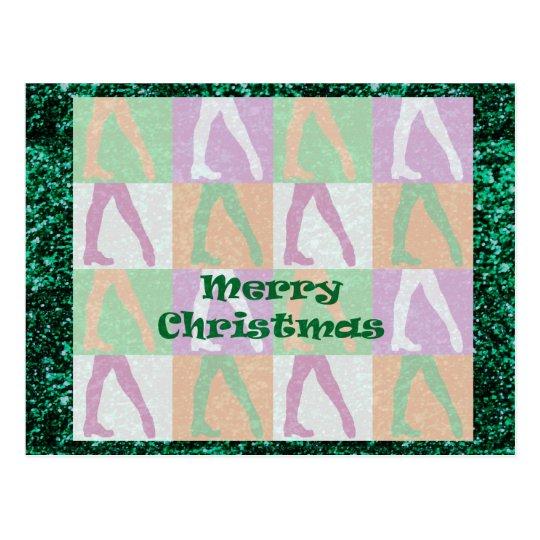 Irish Dance Christmas Postcard