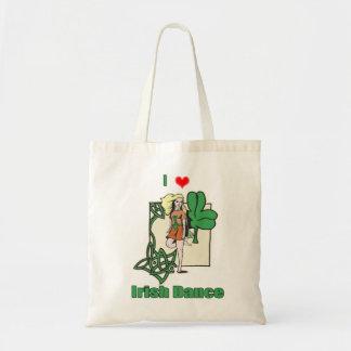 Irish dance heart budget tote bag