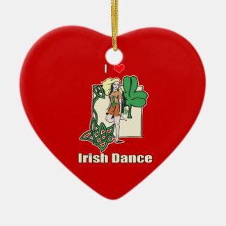 Irish dance heart christmas ornament