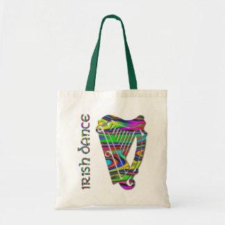 Irish Dance Rainbow Color Harp of Ireland Tote Bag