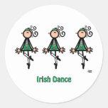 Irish Dance Round Sticker