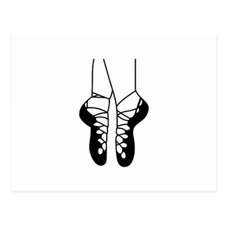 IRISH DANCE SHOES ONE COLOR POSTCARD