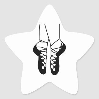 IRISH DANCE SHOES ONE COLOR STAR STICKER
