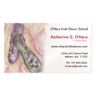 Irish Dance Soft Shoes Business Card