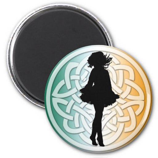 Irish Dancer Celtic Flag Magnet