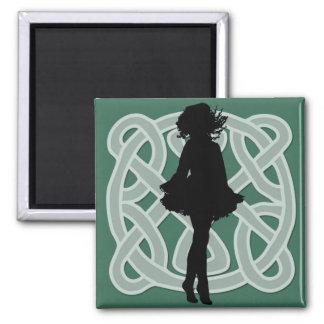 Irish Dancer Celtic Green Magnet