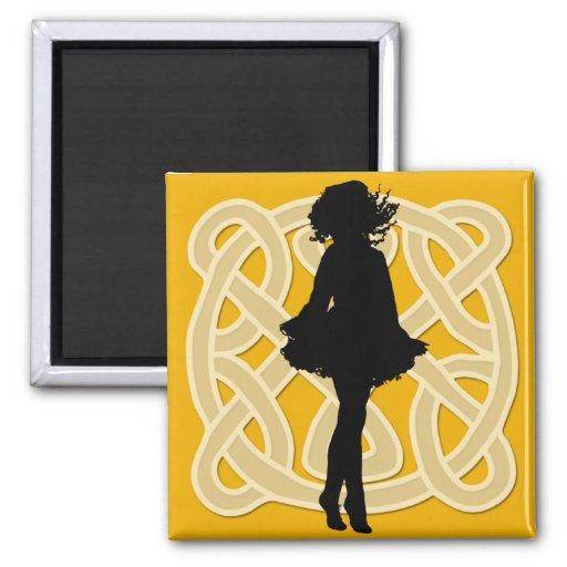 Irish Dancer Celtic Orange Magnet