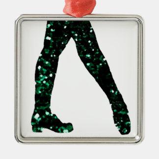 Irish Dancer Silver-Colored Square Decoration