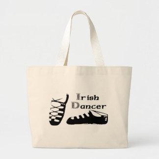 Irish Dancer Ghillies Large Tote Bag