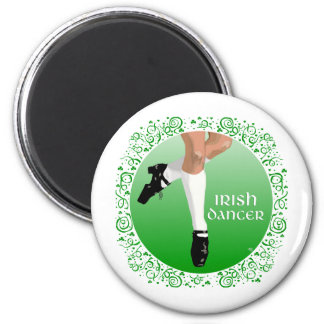 Irish Dancer Hard Shoe 6 Cm Round Magnet