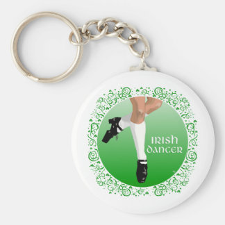 Irish Dancer Hard Shoe Basic Round Button Key Ring