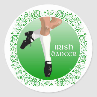 Irish Dancer Hard Shoe Classic Round Sticker
