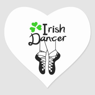 Irish Dancer Heart Sticker