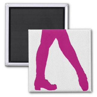 Irish Dancer Square Magnet