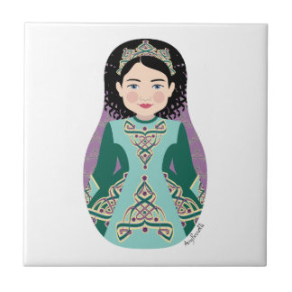 Irish Dancer Matryoshka Tile