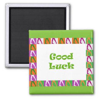 Irish Dancers: Good Luck Square Magnet