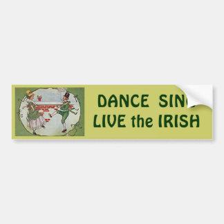 irish dancers vintage bumper sticker