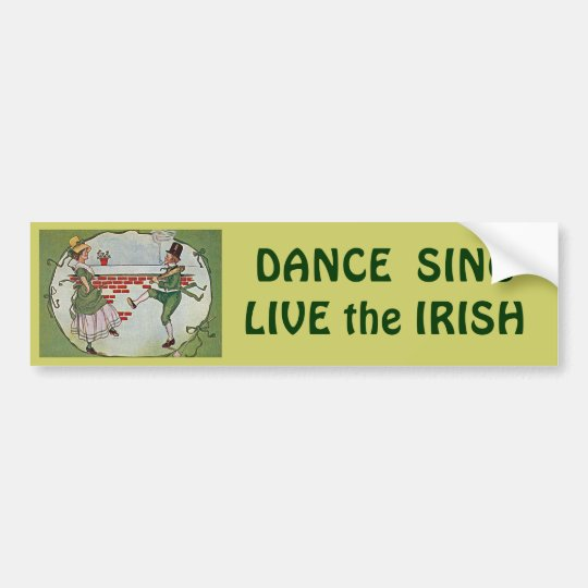 irish dancers vintage bumper sticker