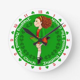 Irish Dancing Clock