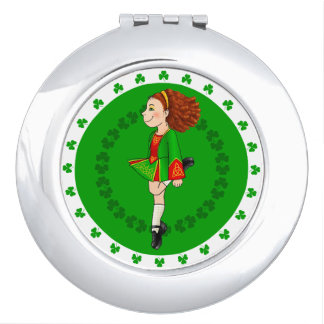 Irish Dancing compact mirror