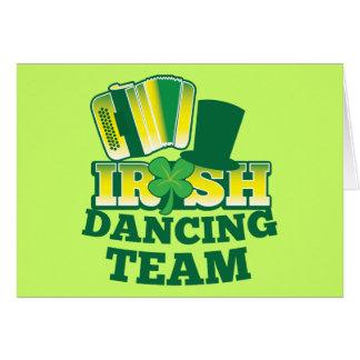 Irish Dancing TEAM Greeting Card