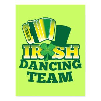 Irish Dancing TEAM Postcard