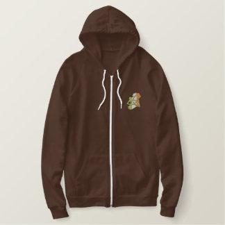 Irish Design Embroidered Hooded Sweatshirt