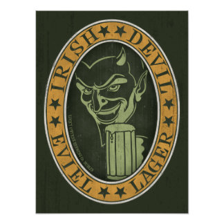 Irish Devil Eviel Lager Print