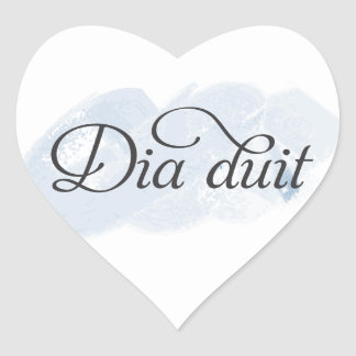 Irish - Dia duit Heart Sticker