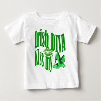 Irish diva kiss my shoes baby T-Shirt
