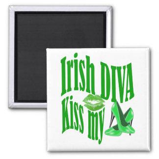 Irish diva kiss my shoes square magnet