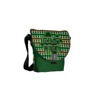 IRISH DIVA St. Patrick's Day Shamrock Courier Bag