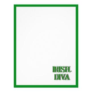 Irish Diva Text Image Flyers