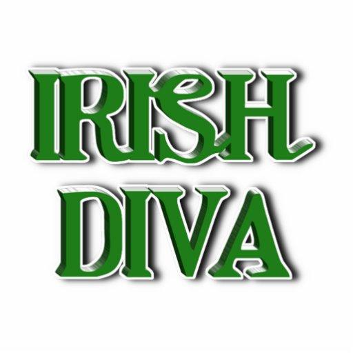 Irish Diva Text Image Photo Sculpture