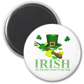 IRISH DOWN TO MY TOES MAGNETS