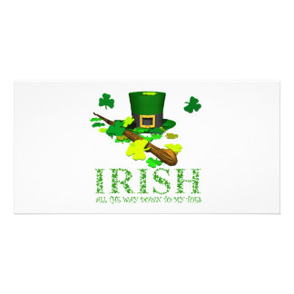 IRISH DOWN TO MY TOES PERSONALIZED PHOTO CARD