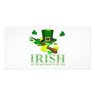 IRISH DOWN TO MY TOES PHOTO GREETING CARD