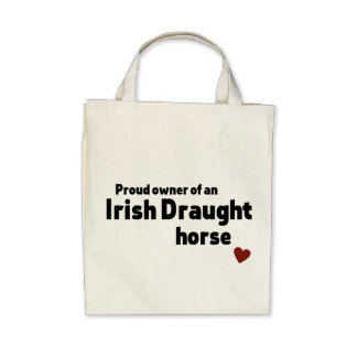 Irish Draught horse Canvas Bags