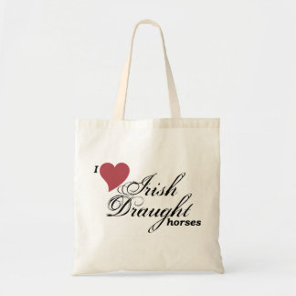 Irish Draught horses Budget Tote Bag