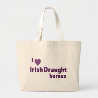 Irish Draught horses Jumbo Tote Bag