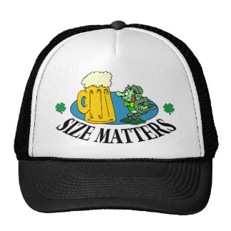 Irish Drinking Cap - Size Matters Trucker Hats