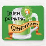 Irish Drinking Champion Mouse Pad