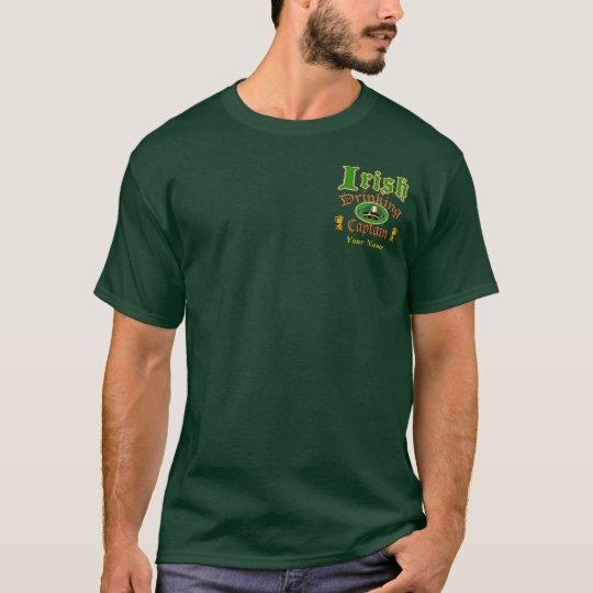 Irish Drinking Cptn Custom T-Shirt