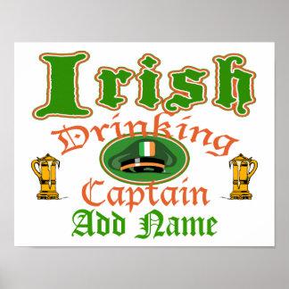 Irish Drinking Cptn Poster
