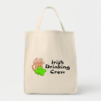 Irish Drinking Crew Beer And Clover Grocery Tote Bag