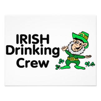 Irish Drinking Crew Leprechaun Personalized Announcement