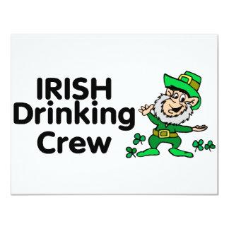 Irish Drinking Crew Leprechaun 11 Cm X 14 Cm Invitation Card